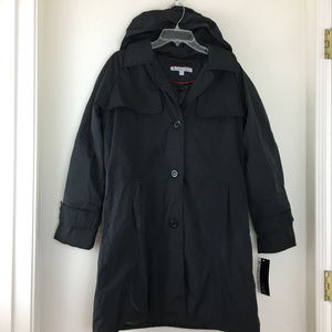 KC Collections Women Black Jacket  Removeable Hood